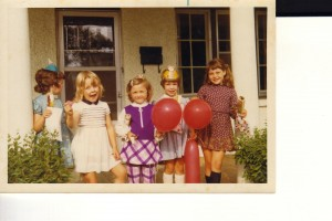 Fourth birthday party. I'm the one in drag.